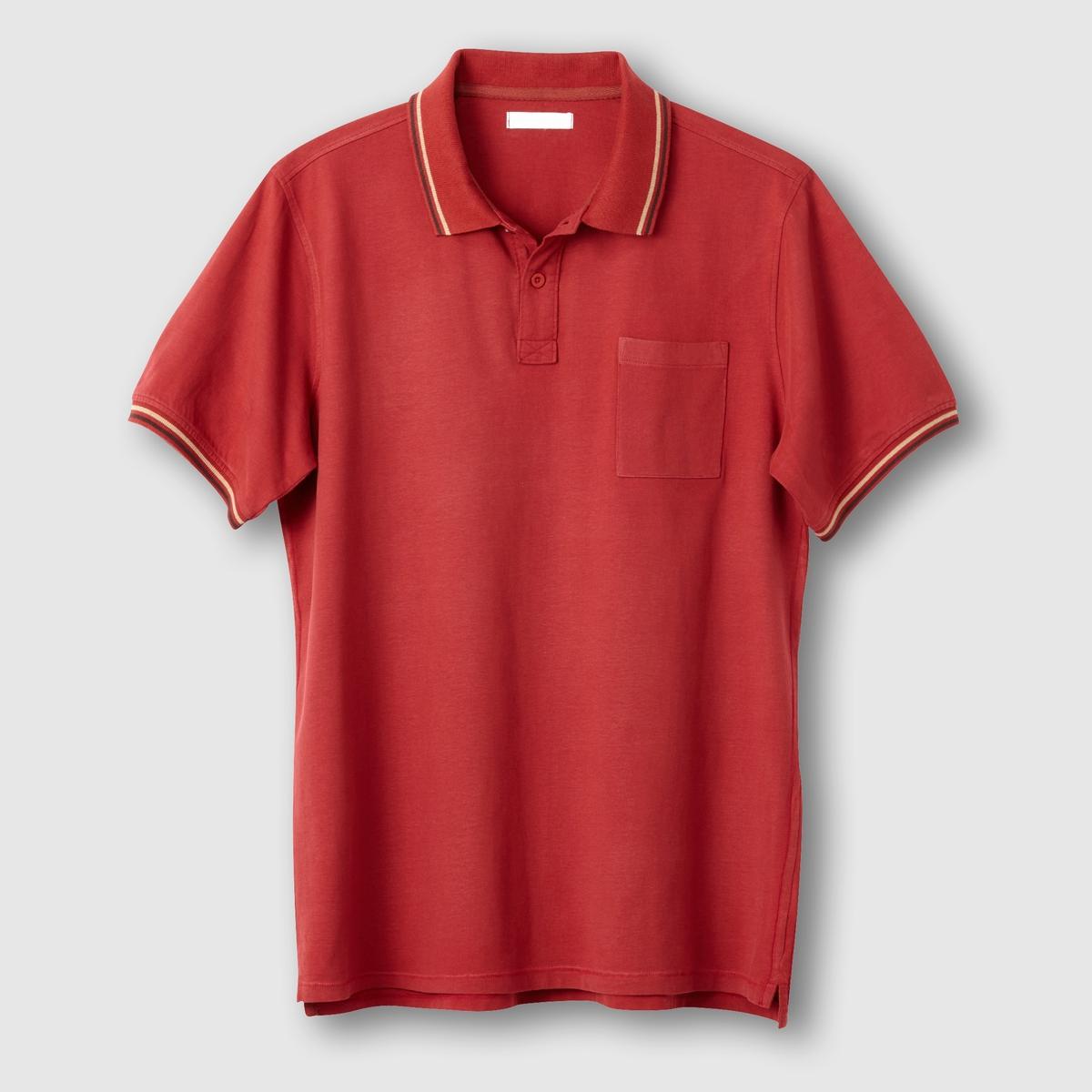 Поло из джерси, 100% хлопка. Короткие рукаваОбратите внимание, что бренд Taillissime создан для высоких, крупных мужчин с тенденцией к полноте. Чтобы узнать подходящий вам размер, сверьтесь с таблицей больших размеров на сайте.<br><br>Цвет: красный малиновый<br>Размер: 82/84