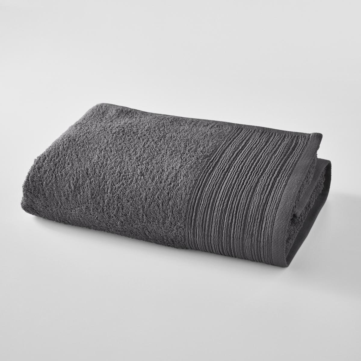 Полотенце банное большое однотонное из махровой ткани из биохлопка