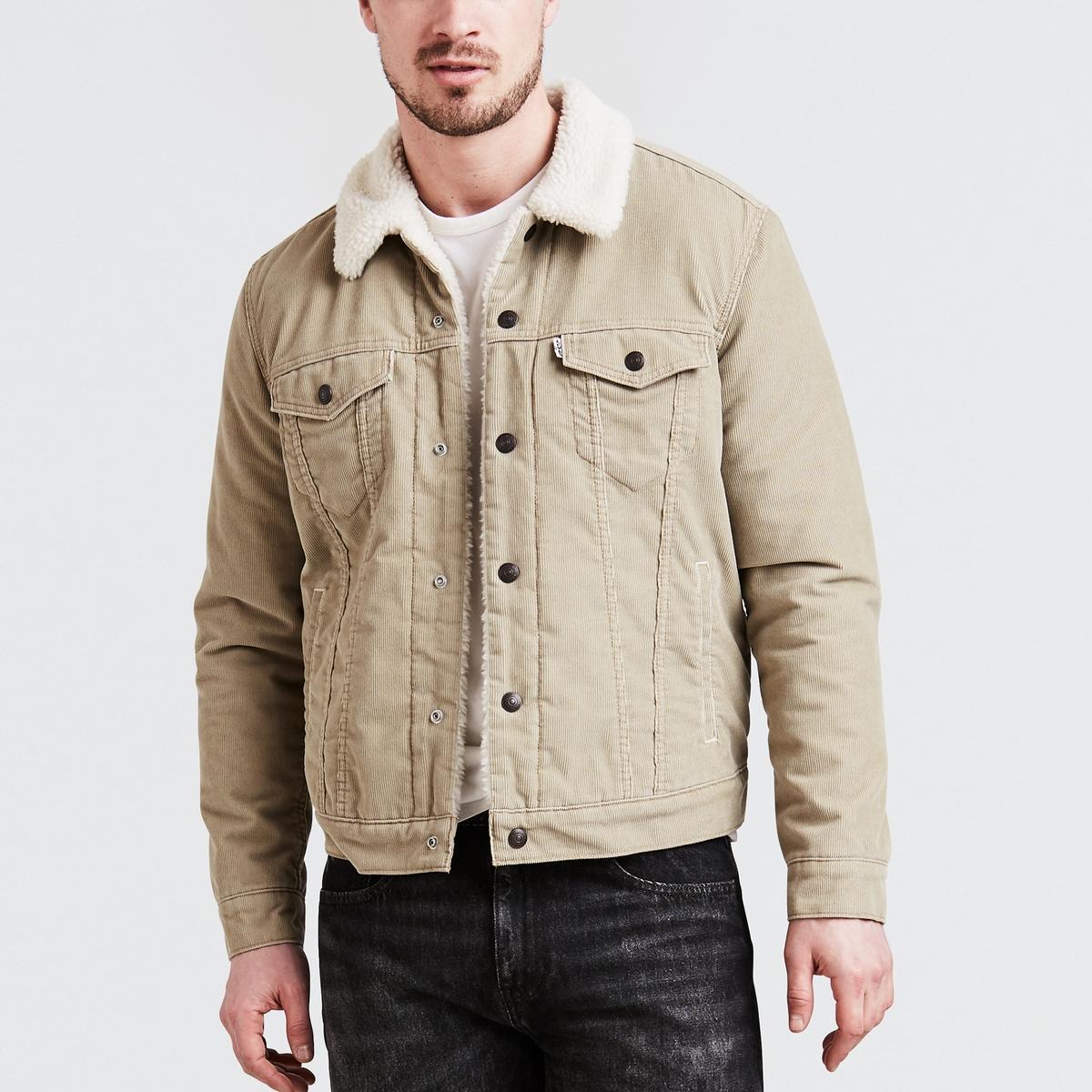 Giacca in jeans Trucker Sherpain velluto