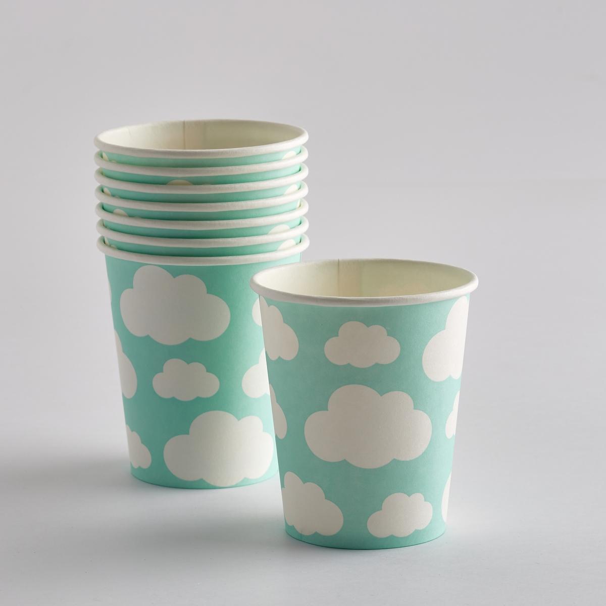 Комплект из 8 стаканчиков из картона CimelaХарактеристики 8 стаканчиков из картона Cimela с рисунком облака :Картон.Рисунок Облака.Размеры 8 стаканчиков из картона Cimela с рисунком облака :диаметр 8 x высота 9 см.Другие модели того же комплекта и наши коллекции предметов декора стола вы можете найти на сайте laredoute.ru<br><br>Цвет: рисунок синий/белый<br>Размер: единый размер