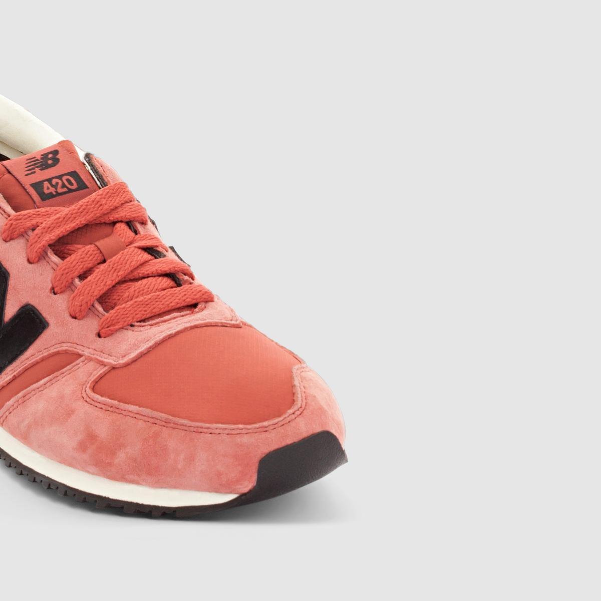 Кроссовки NEW BALANCE U420CKПреимущества: Низкие кроссовки NEW BALANCE, совмещающие классику и современность, берцы в одной цветовой гамме и контрастные фирменные элементы.<br><br>Цвет: бордовый<br>Размер: 41 1/2