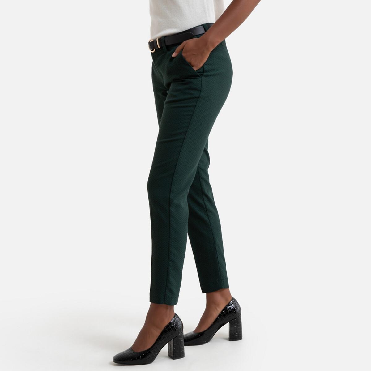Брюки-дудочки LaRedoute La Redoute 42 (FR) - 48 (RUS) зеленый брюки скинни la redoute эффект карго длина 30 38 fr 44 rus зеленый