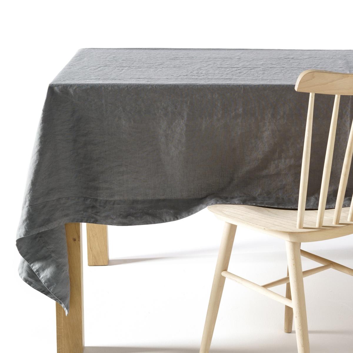Скатерть LaRedoute Из льна Linette 150 x 250 см серый