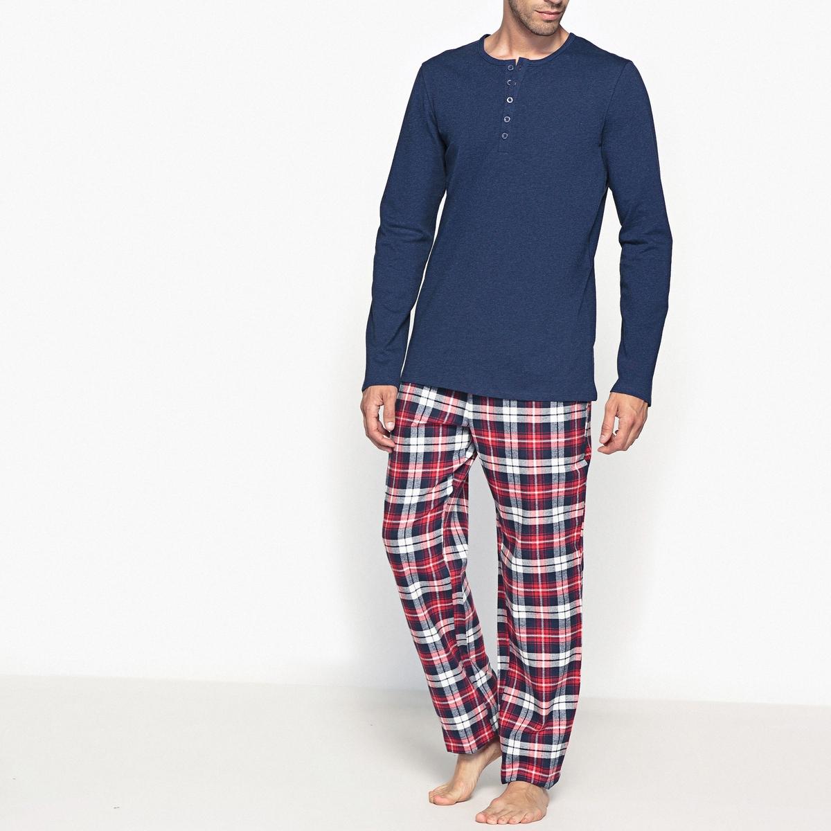 Пижама с длинными рукавами