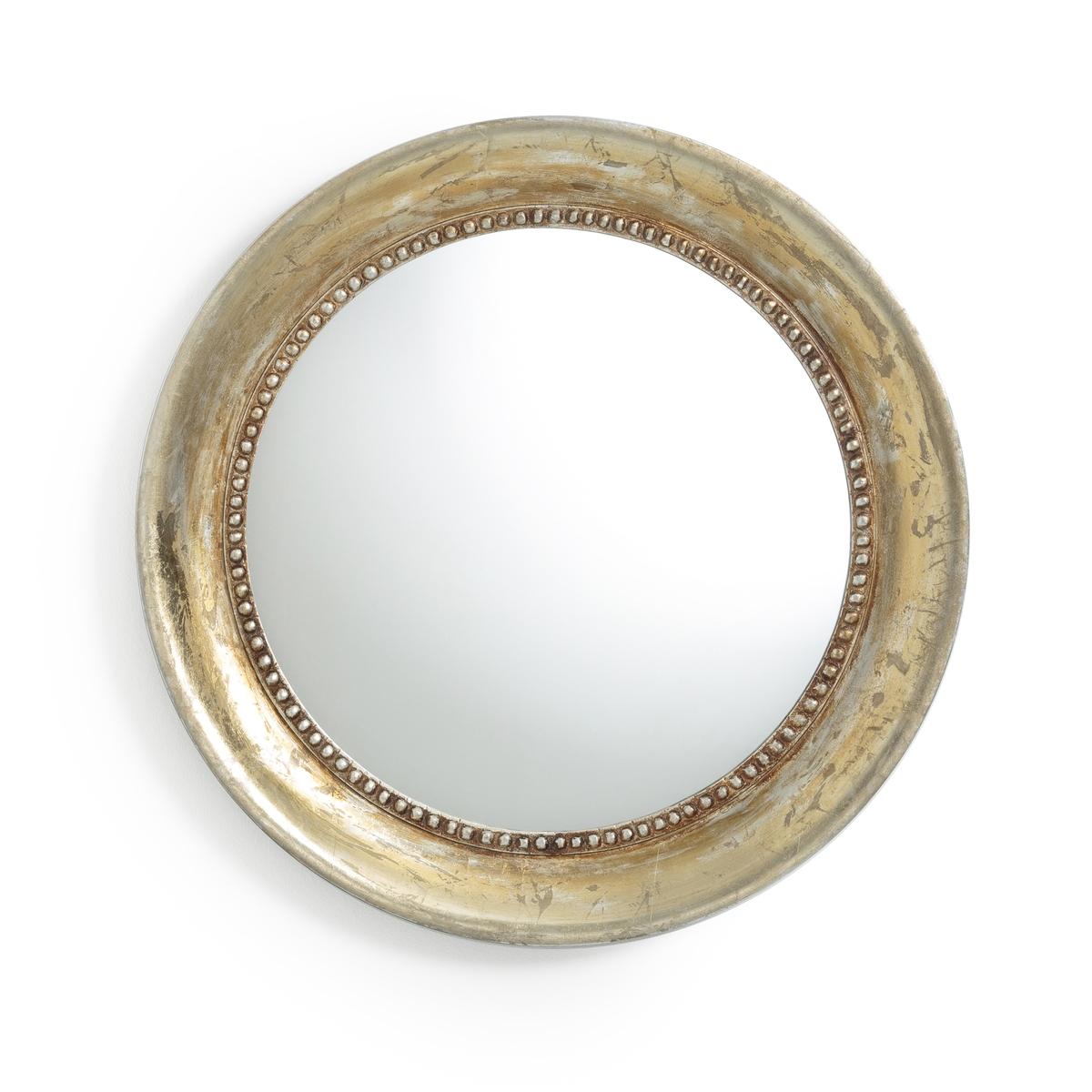 Зеркало круглое золотистого цвета с эффектом под старину AFSAN