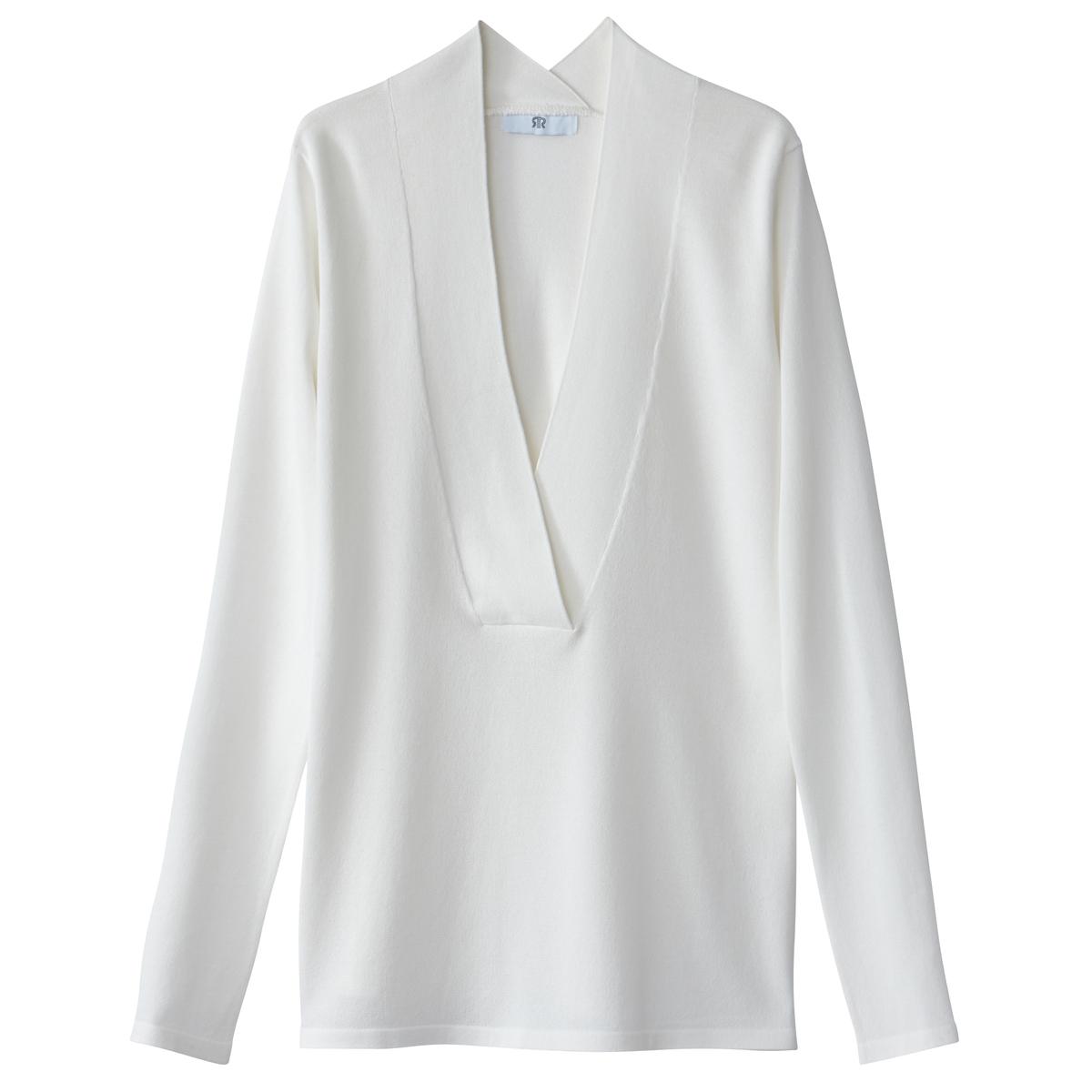 Jersey con cuello de pico, de punto fino