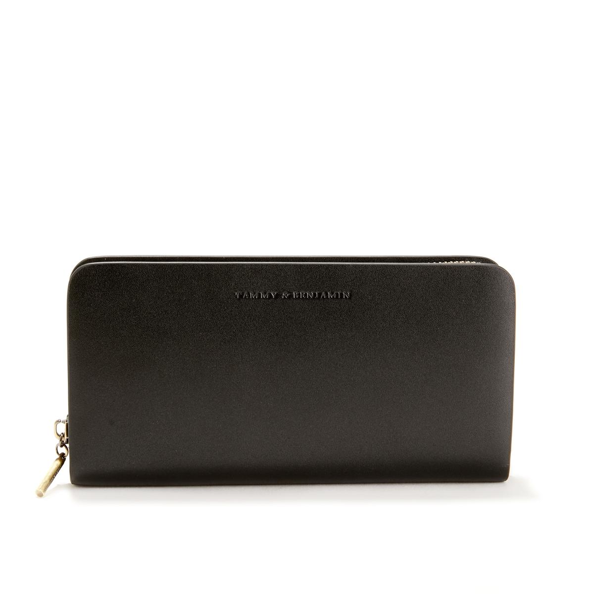 Бумажник La Redoute Из гладкой кожи EVA COWHIDE единый размер черный