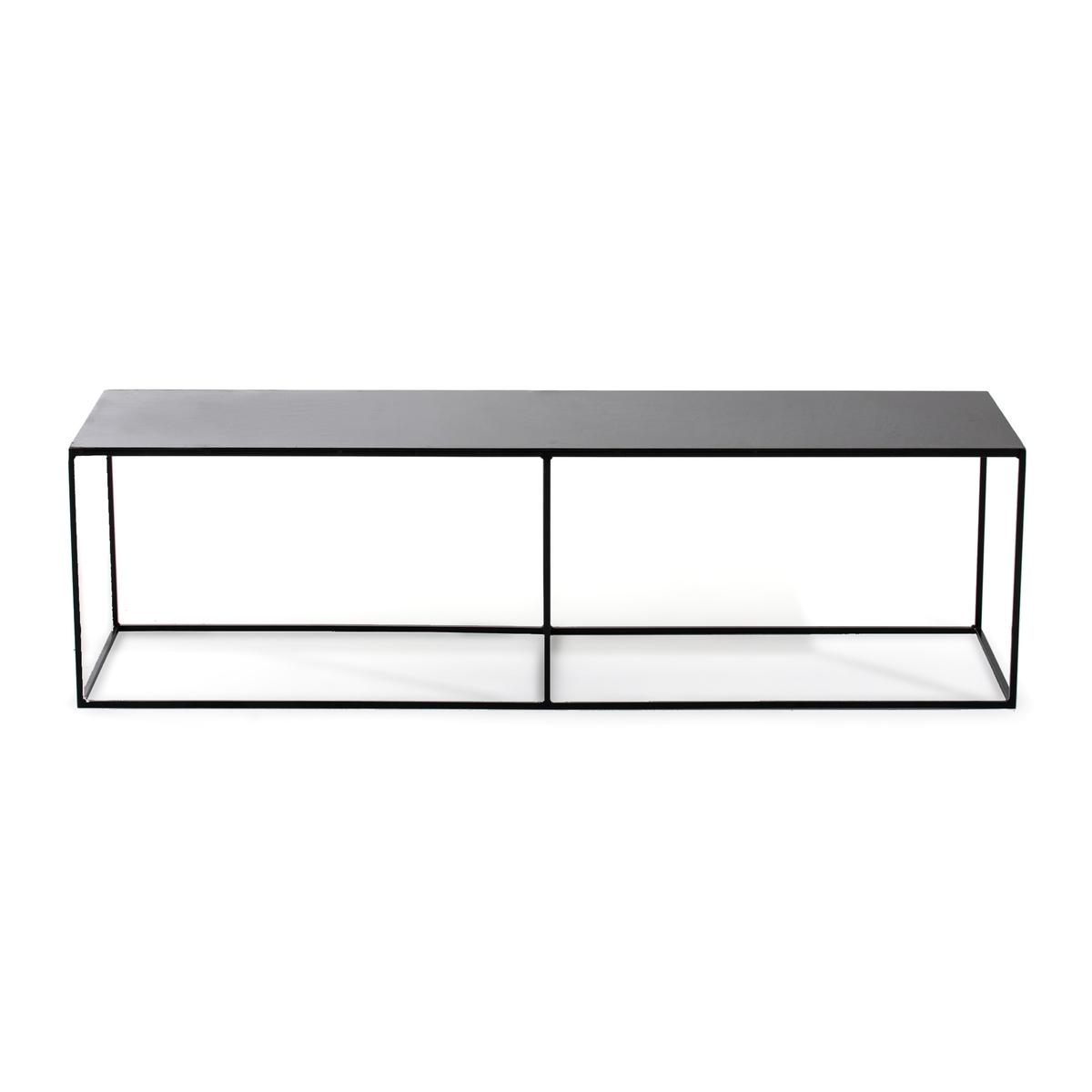 Скамья La Redoute Прикроватный столик из металла Romy единый размер черный