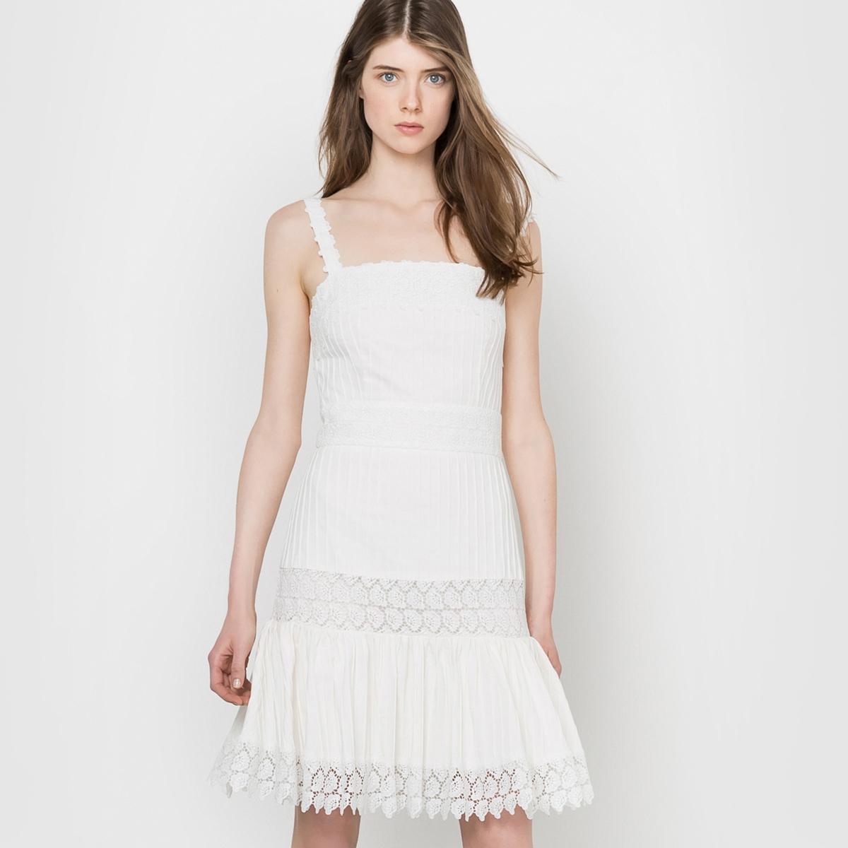 Платье короткое с бретелями