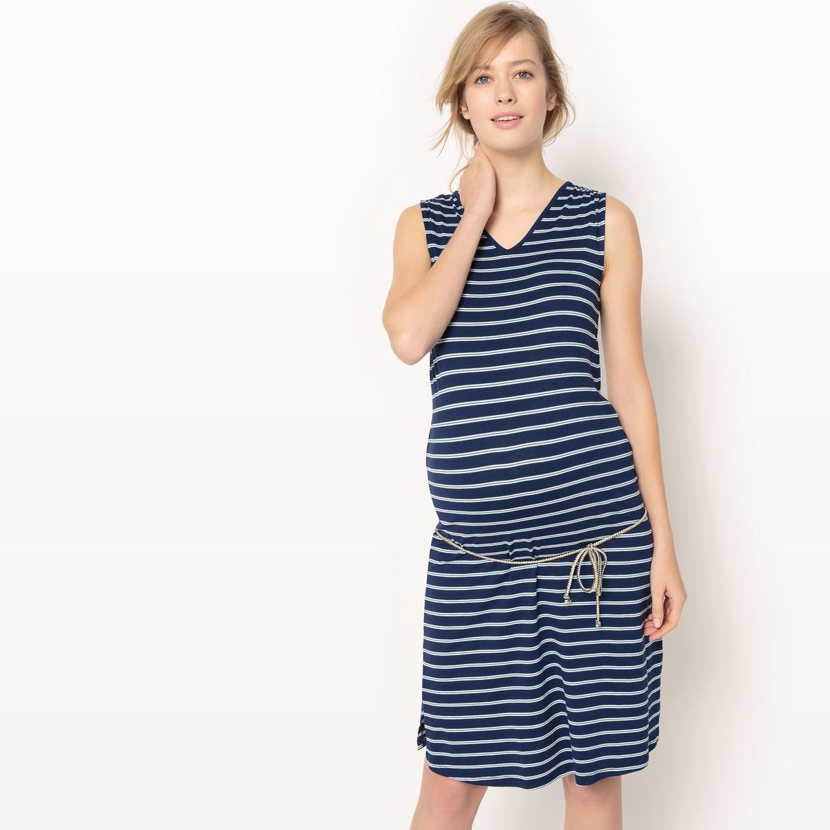 Платье в полоску для периода беременности