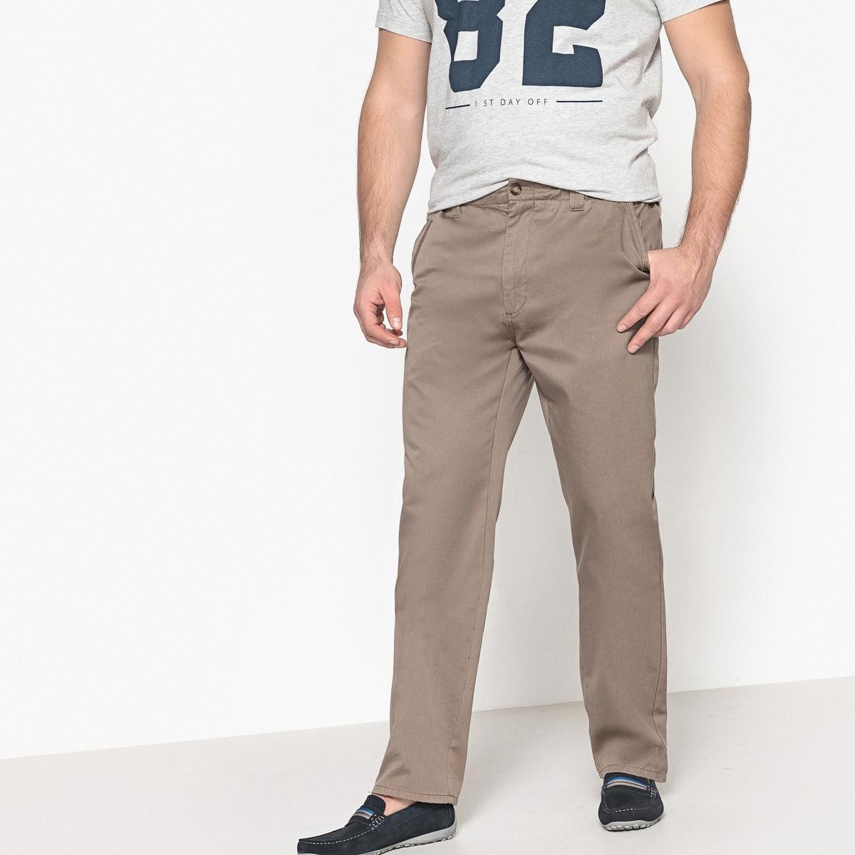 Pantaloni chino regular con lati elasticizzati