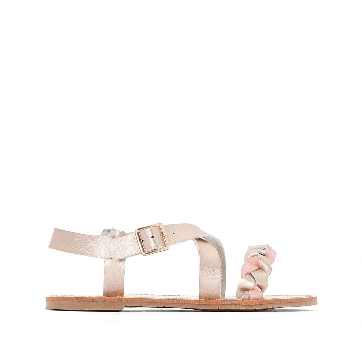 Sandales détail tresse