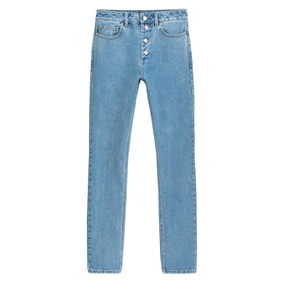 Jeans mom slim, cintura subida, braguilha com botões