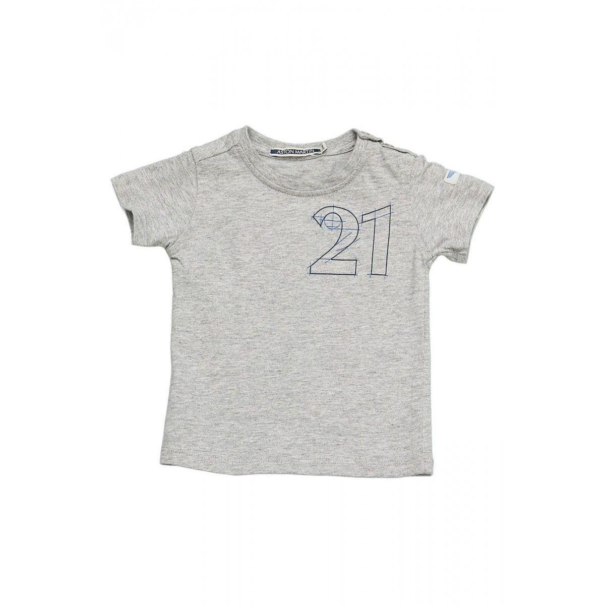 T-shirt manches courtes gris