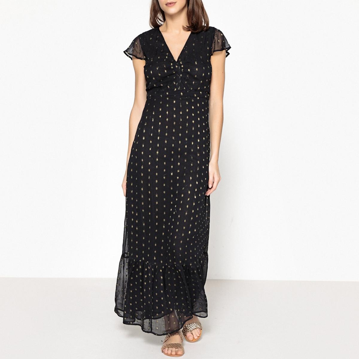 Платье длинное VALOU DOBBY LUREX