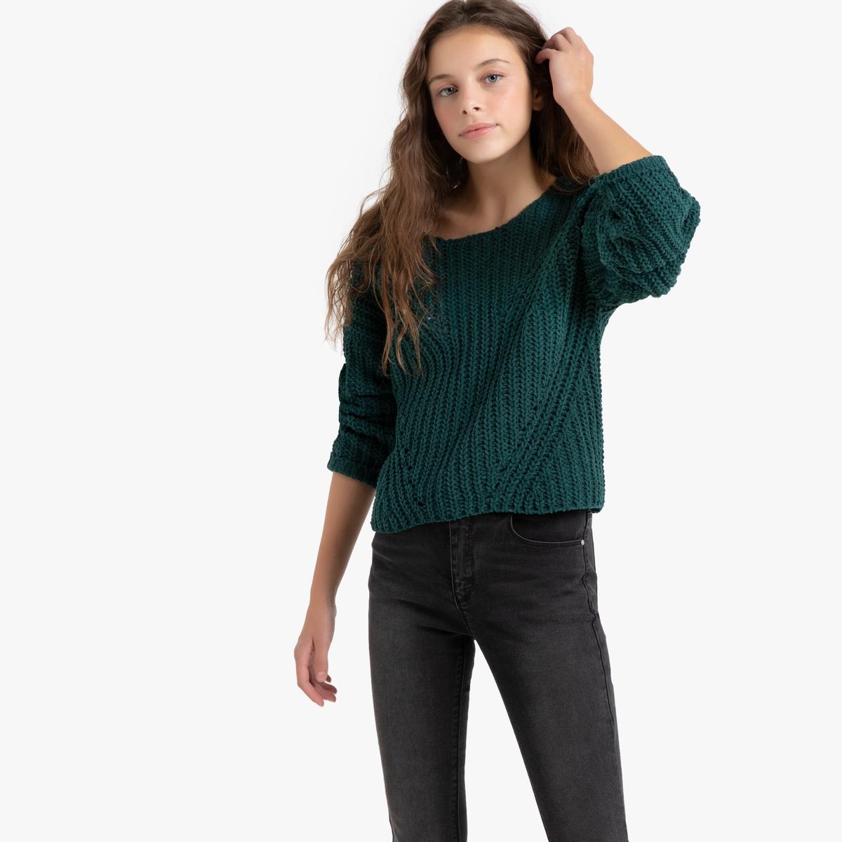 Пуловер La Redoute С круглым вырезом из плотного трикотажа 14 лет - 156 см зеленый пуловер la redoute с круглым вырезом из шерсти мериноса pascal 3xl черный