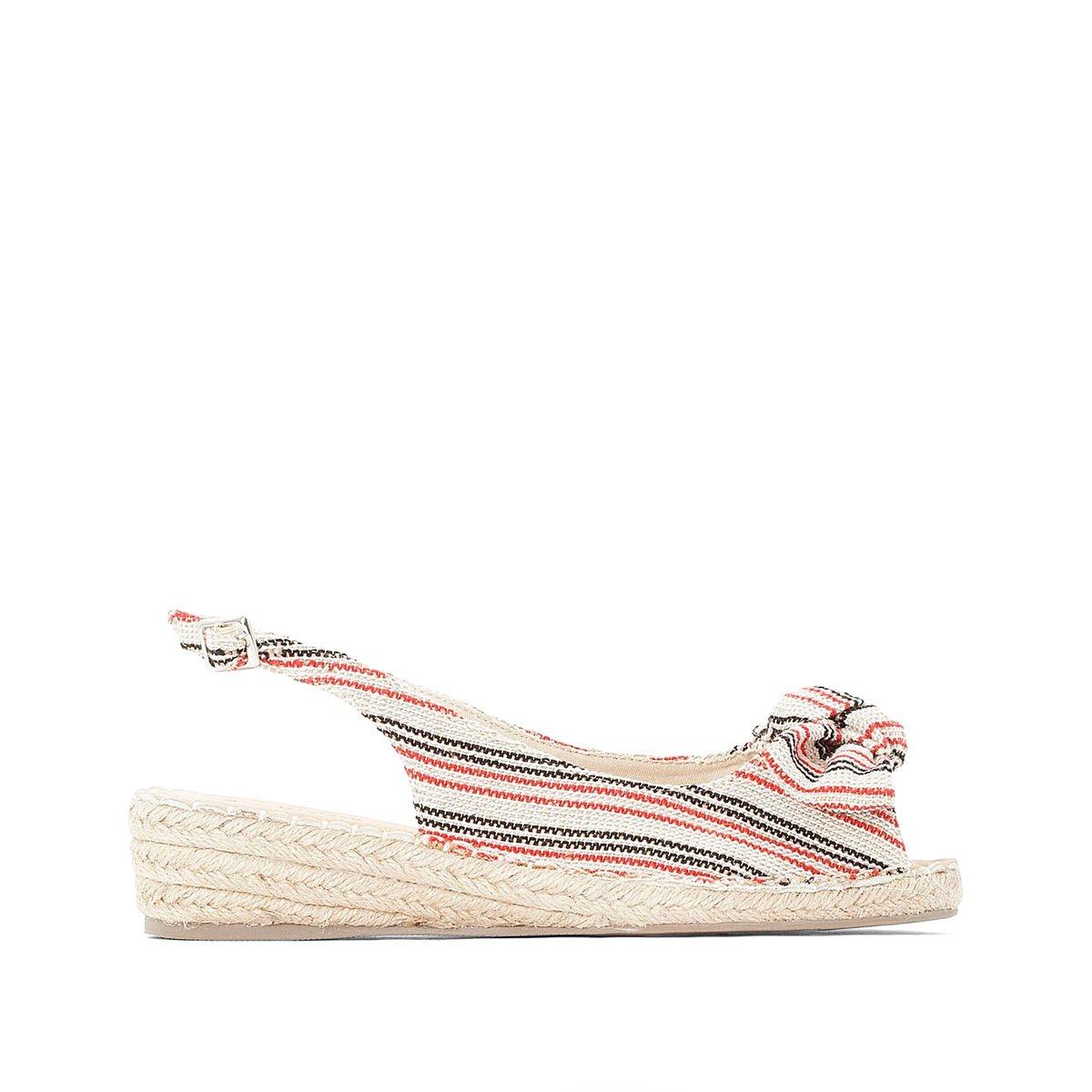Sandales à talon compensé