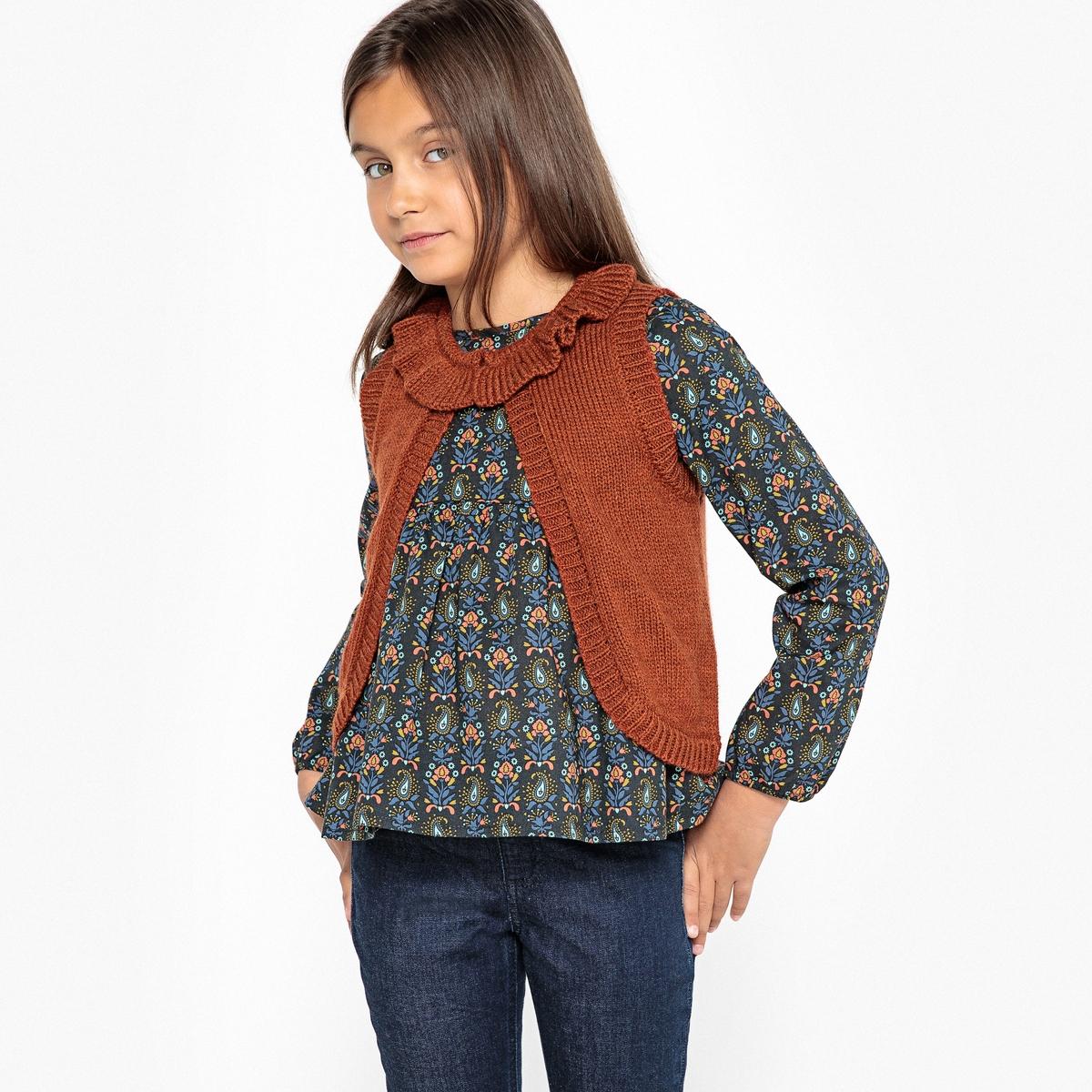 Комплект из блузки и кардигана без рукавов 3-12 лет блузки и рубашки