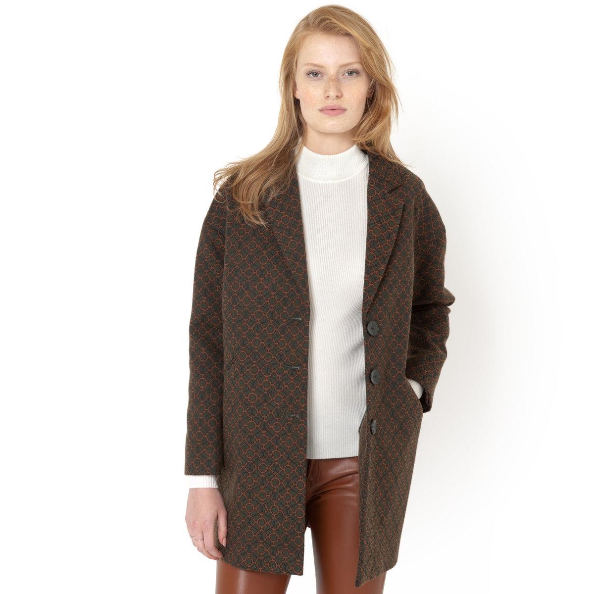 Пальто жаккардовое пальто la biali пальто