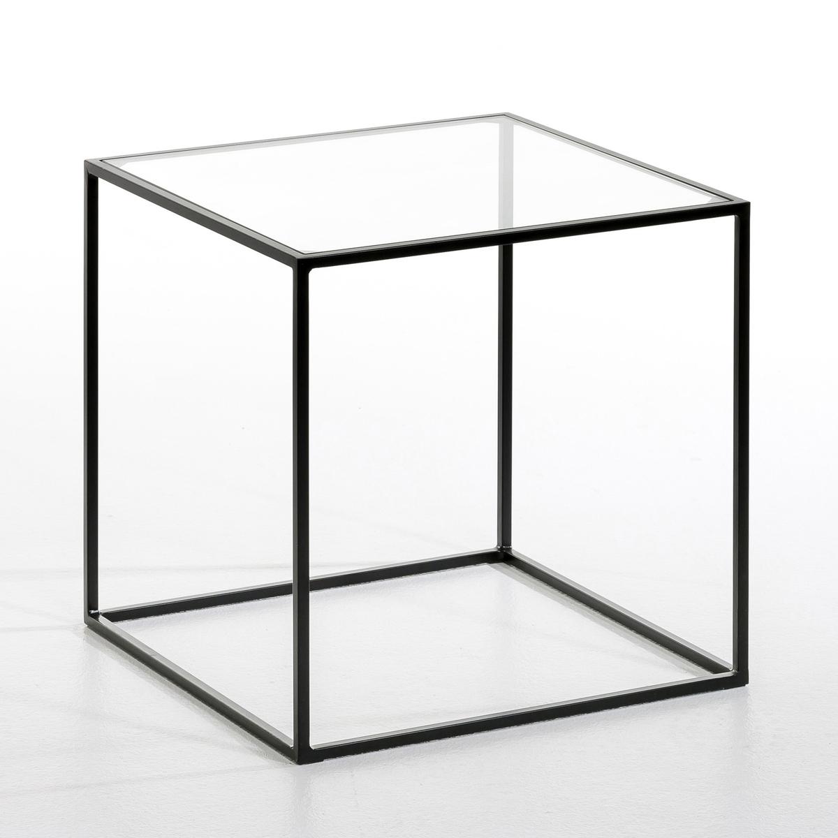 Столик La Redoute Журнальный Sybil стеклянная столешница единый размер зеленый