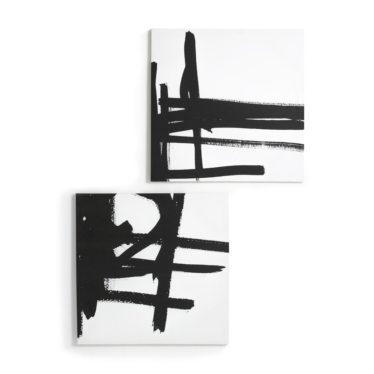 Рисунок на холсте 1, DystilaРисунок на канве Dystila. Абстрактный черно-белый рисунок сочетается с рисунком 2 Dystila, продающимся на нашем сайте. 2 крючка для крепления к стене (болты и дюбели в состав не входят). Размеры : Ш80 x В80 см.<br><br>Цвет: черный