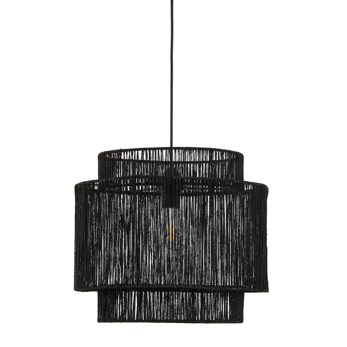 Светильник La Redoute Из натуральной пеньки Yaku единый размер черный