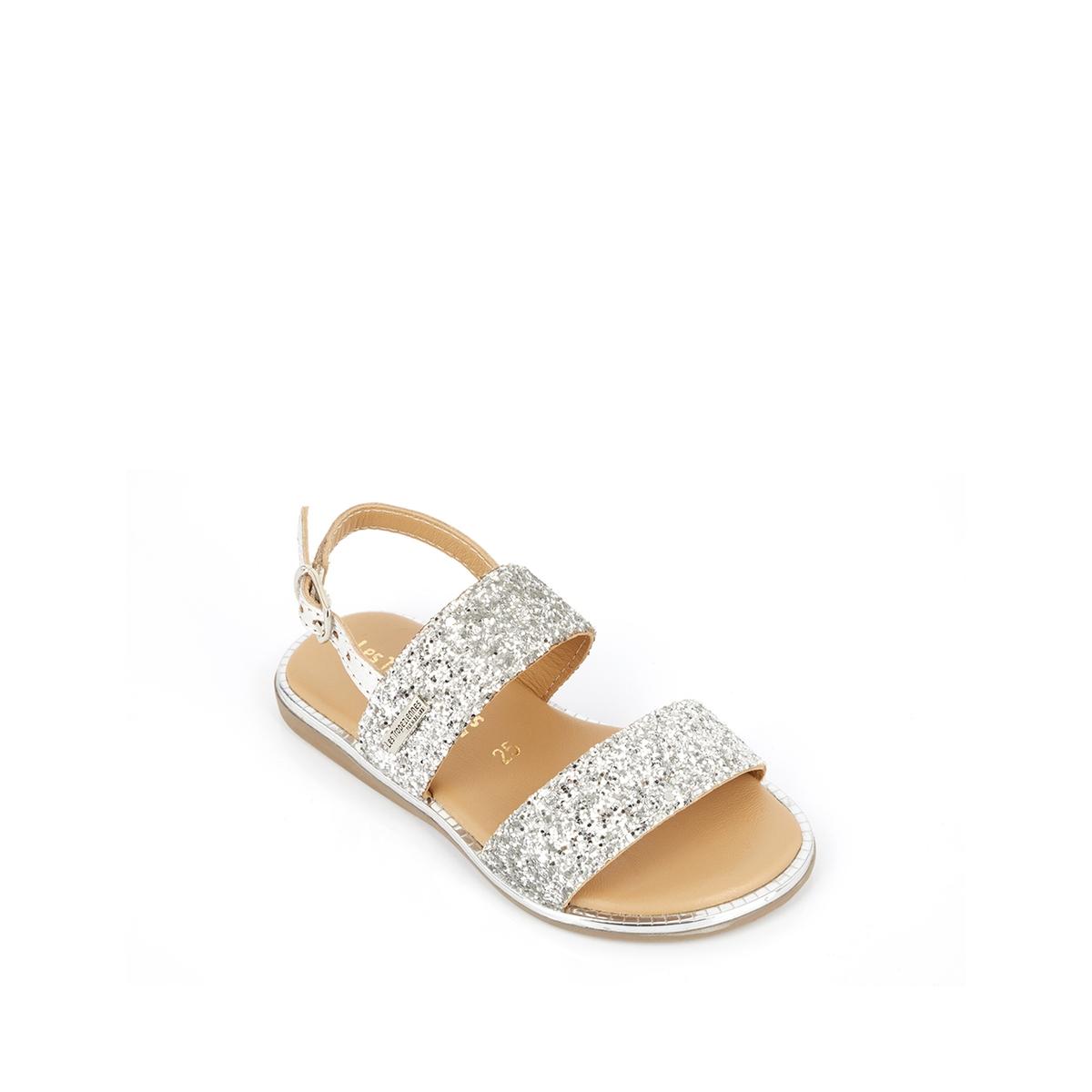 An image of Les Tropeziennes Par M Belarbi Kids Iena Leather Sandals