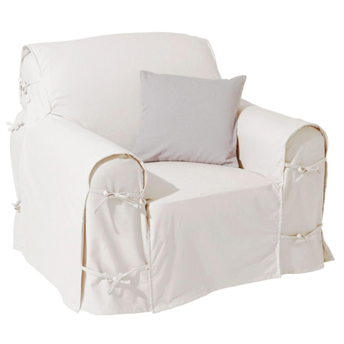 Чехол для креслаПодарите новую жизнь креслу благодаря этому чехлу из 100% хлопка, оцените широкую гамму ультрасовременных цветов!Характеристики чехла для кресла:- Практичный чехол для кресла регулируется завязками. - Красивая плотная ткань из 100% хлопка (220 г/м?).- Обработка против пятен.- Простой уход: стирка при 40°, превосходная стойкость цвета.Размеры чехла для кресла:- Общая высота: 102 см.- Максимальная ширина: 80 см.- Глубина сидения: 60 см.- Высота подлокотников: 66 см.Качество VALEUR S?RE. Производство осуществляется с учетом стандартов по защите окружающей среды и здоровья человека, что подтверждено сертификатом Oeko-tex®.<br><br>Цвет: белый,вишневый,медовый,серо-коричневый,серый жемчужный,синий индиго,темно-серый,черный,экрю<br>Размер: единый размер