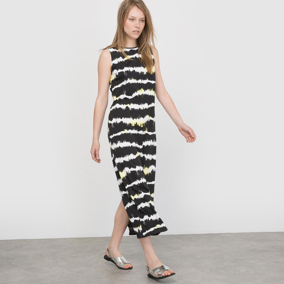 Платье длинное в полоску без рукавов платье длинное в полоску