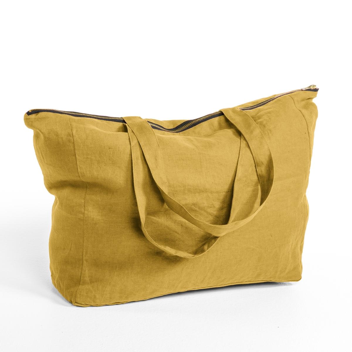 Сумка 100% лен ElinaВам понравятся утонченные и изысканные цвета, в которых выполнена эта сумка из льна с застежкой на молнию. Великолепный материал. Идеальная сумка для шоппинга. Купите ее в подарок или подарите самой себе.- 100% стираный лен. Подкладка из черного хлопка.- 2 ручки.- Закрывается на молнию золотистого цвета. : 40 x 34  x 15 см.- С логотипом бренда AM.PM   . (этикетка внутри) .- Машинная стирка при 40 °С.<br><br>Цвет: зеленый шалфей,серый<br>Размер: единый размер.единый размер