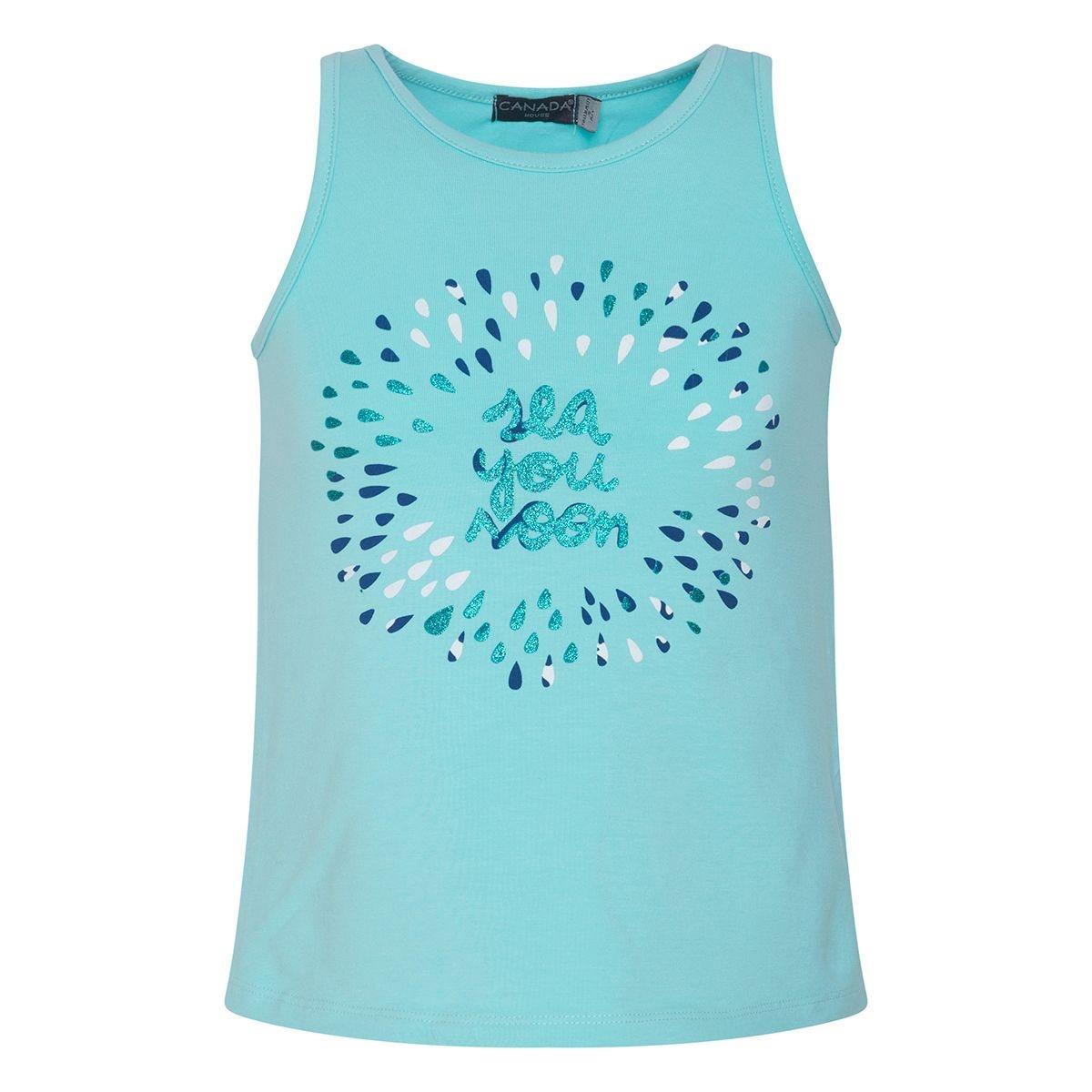 T-shirt soon fille bleu