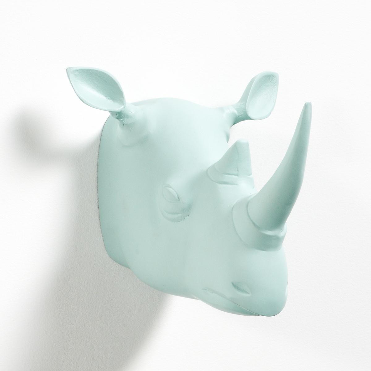 Голова носорогаГолова носорога. Сразу повесьте этот трофей на стену после воображаемого сафари. Характеристики трофея голова носорога :Алюминиевый кронштейн, покрытый эпоксидной краской + 1 пластина для крепления на стену (винты и дюбели продаются отдельно)Размеры трофея голова носорога :Г.23 x Ш.20 x В.18 см<br><br>Цвет: бледный сине-зеленый<br>Размер: единый размер