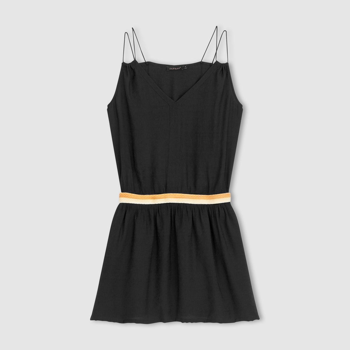Платье с тонкими бретелями платье длинное с тонкими бретелями из крепа 100% вискоза