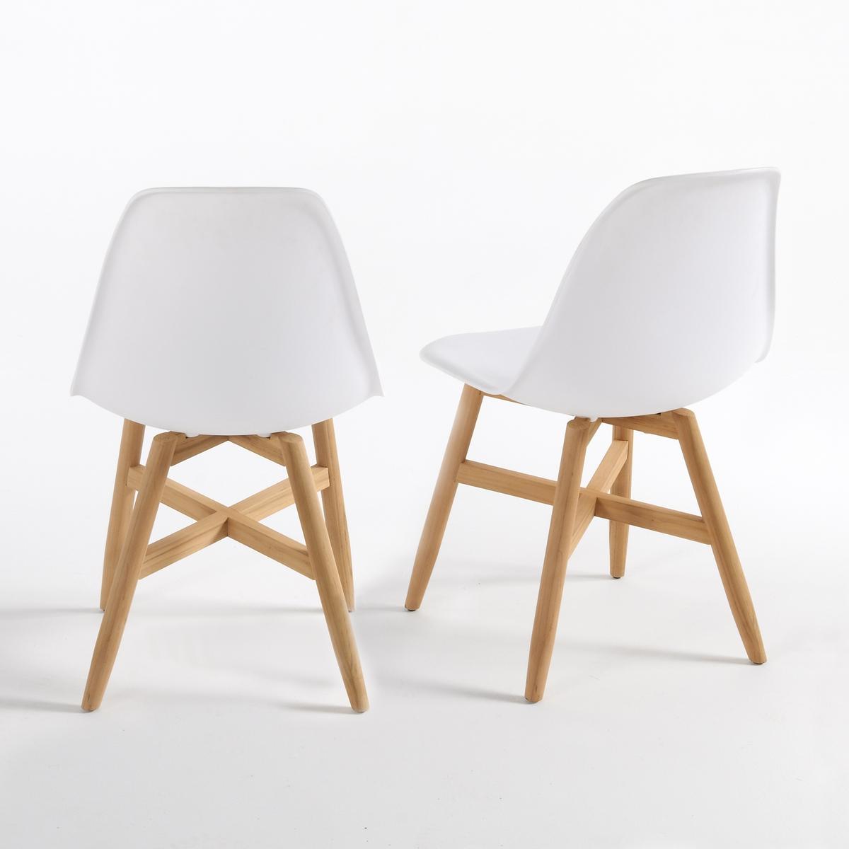 Комплект из 2 стульев для сада с сиденьем в форме раковины, Jimi2 стула для сада с сиденьем в форме раковины, Jimi. Популярные стулья для сада Jimi с прочным сиденьем в форме раковины из полипропилена и устойчивой ножкой из тика FSC®*. Характеристики стульев для сада в форме раковины Jimi :Сиденье из полипропилена .Расширяющиеся ножки из тика FSC®*, с натуральной отделкой .Всю коллекцию садовой мебели, а также кресла Jimi вы можете найти на сайте laredoute.ruРазмеры стульев для сада Jimi :Общие размерыДлина : 46 смВысота : 82 смГлубина : 40 смСиденье : Ш.41,5 x Г.47 см Размеры и вес упаковки :1 упаковка :60 x 56 x В.51 см 9 кгДоставка:Товар продается готовым к сборке.Возможна доставка до двери по предварительной договоренности.Внимание! Убедитесь, что возможно осуществить доставку товара, учитывая его габариты (проходит в дверные проемы, лестничные проходы, лифты).*Ярлык FSC - Международный Лесной попечительский совет- гарантирует бережное использование природных ресурсов, сохранение биологического разнообразия и местных видов ® 1996 FSC.<br><br>Цвет: белый,черный