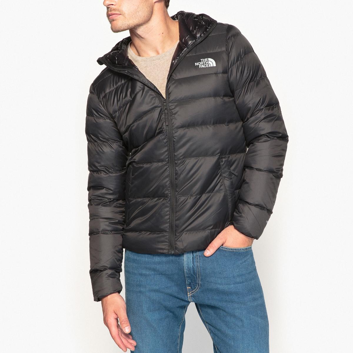 Куртка стеганая с капюшономДетали •  Длина : укороченная   •  Капюшон  •  Застежка на молнию •  С капюшоном Состав и уход •  100% полиамид  •  Наполнитель : 100% перо •  Следуйте советам по уходу, указанным на этикетке<br><br>Цвет: черный<br>Размер: XL