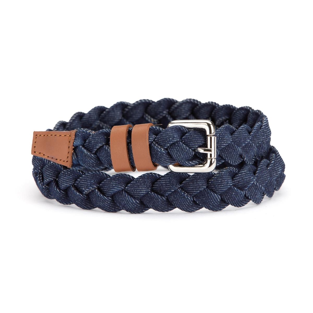 Cinturón trenzado de denim