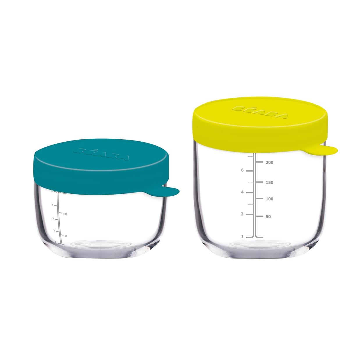 Confezione da 2 contenitori in vetro