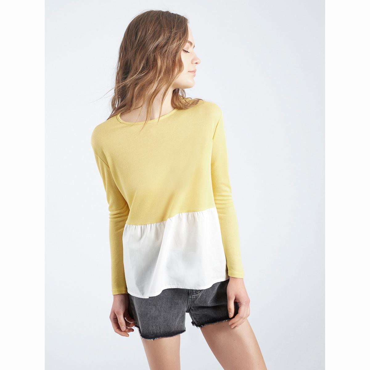 Пуловер двухцветный Amarillo StonemСостав и описаниеМатериал : 85% вискозы, 15% полиэстераМарка : Compania FantasticaМодель : Jersey Amarillo StonemУходСледуйте рекомендациям по уходу, указанным на этикетке изделия.<br><br>Цвет: желтый<br>Размер: L
