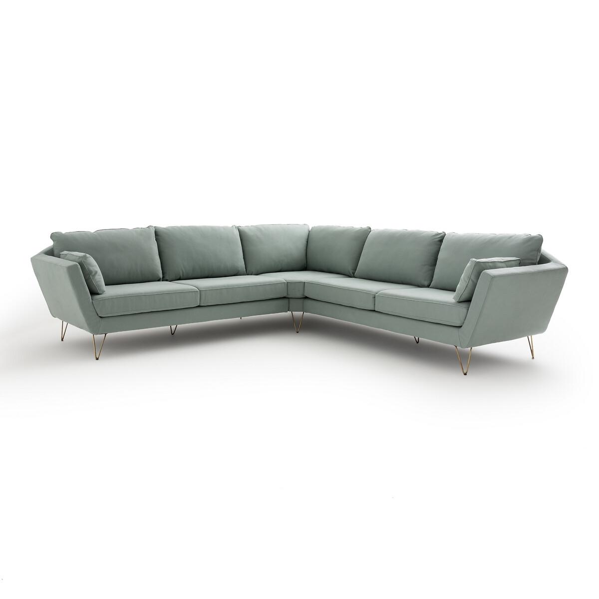 Canapé d'angle 2 places Velours Vintage Confort