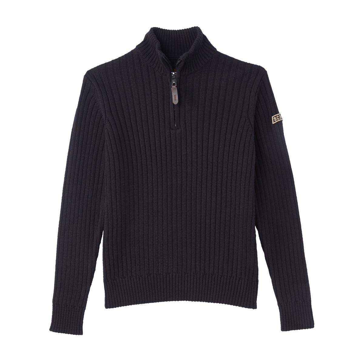 Пуловер La Redoute С воротником-стойкой из тонкого трикотажа 3XL черный