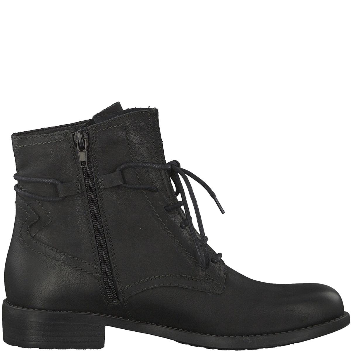 Ботинки кожаные TainaДетали •  Высота голенища : 14 см, размер 37 •  Высота каблука : 3 см •  Застежка : на молнию •  Круглый мысокСостав и уход •  Верх 100% кожа •  Подкладка 100% текстиль •  Стелька 50% синтетического материала, 50% текстиля<br><br>Цвет: серо-коричневый,черный