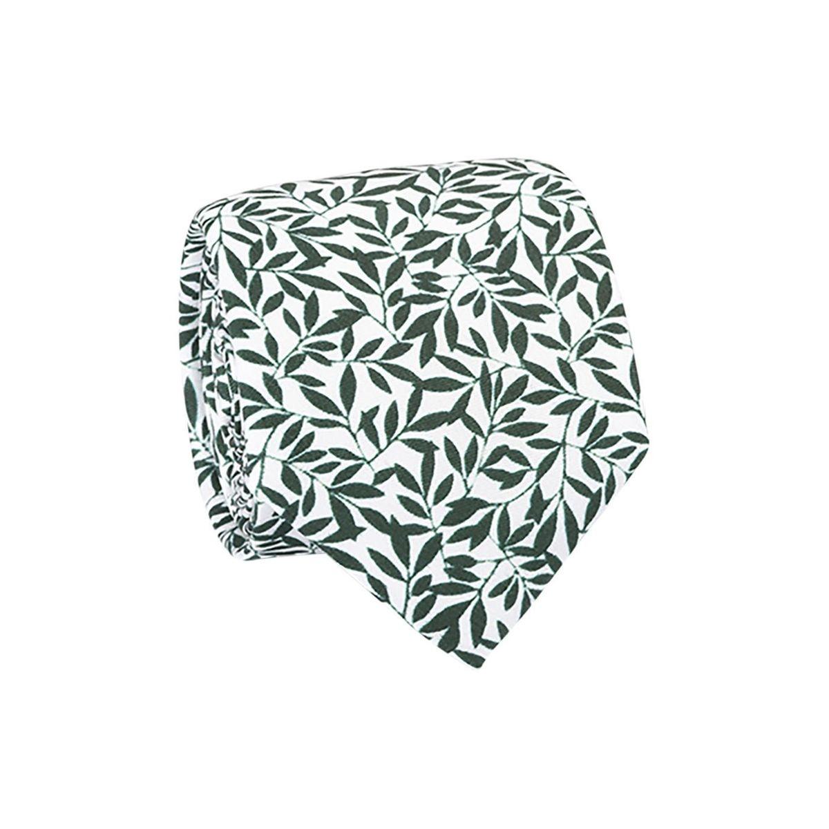 Cravate 100% soie feuilles délicates
