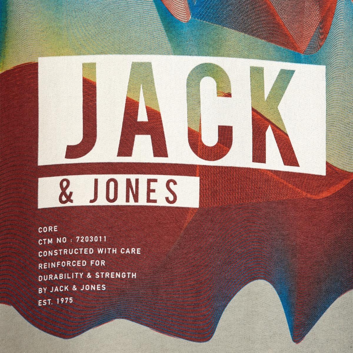 СвитшотСвитшот JACK &amp; JONES. Прямой покрой, круглый вырез. Края низа и рукавов связаны в рубчик. Состав и описание :Материал : 100% хлопкаМарка : JACK &amp; JONES.<br><br>Цвет: черный