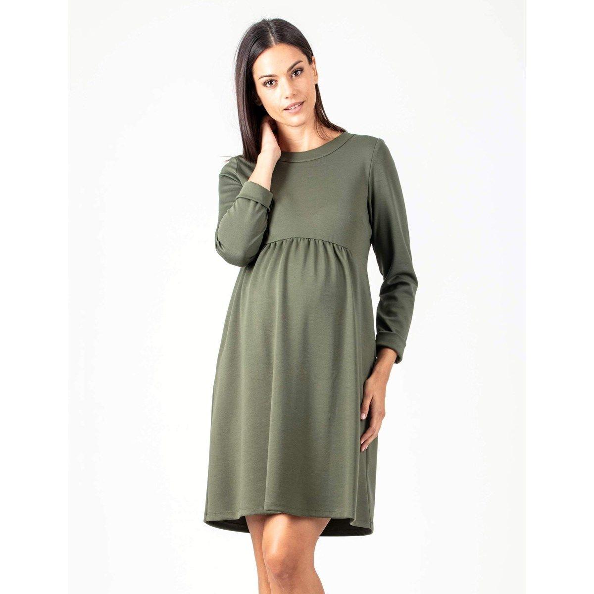 Robe de grossesse avec ouvertures à zip dans le dos