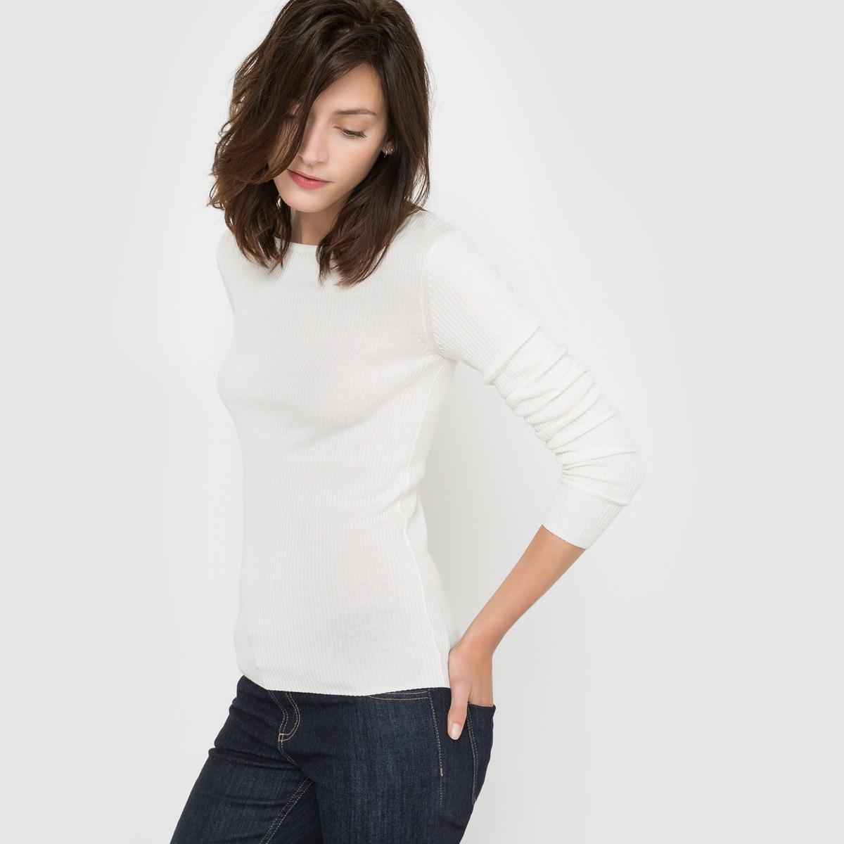 Пуловер-водолазка трикотажный с добавлением шерсти