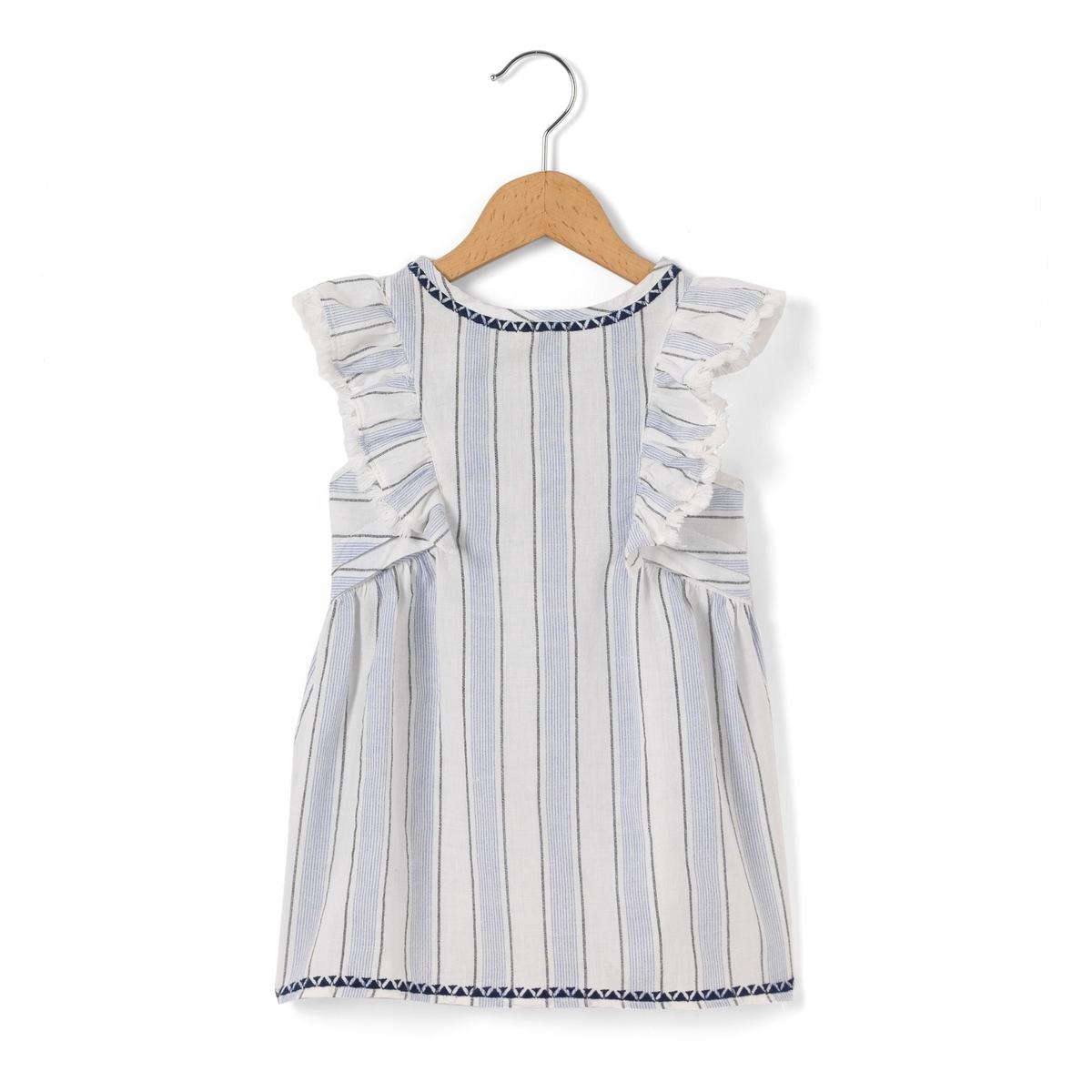 Платье в полоску без рукавов, 1 мес.-3 лет