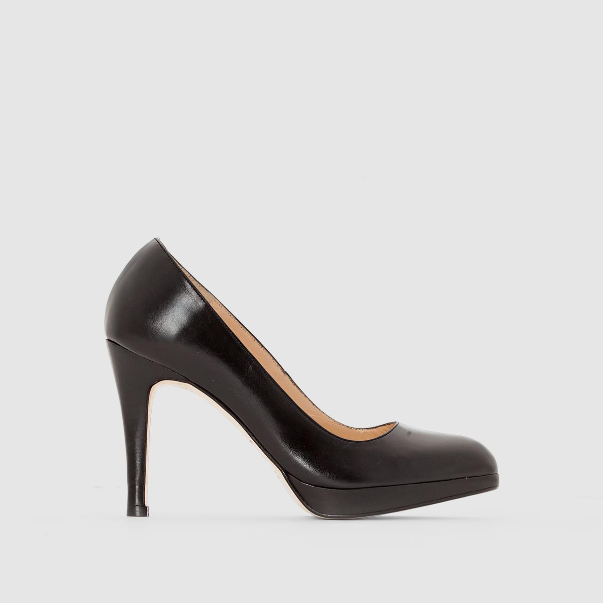 Туфли кожаныеТуфли с заостренным мысом JONAK. Верх из кожи. Подкладка и стелька из кожи. Каблук 8 см. Подошва из эластомера. Воплощение шика и гламура!<br><br>Цвет: черный<br>Размер: 39.40