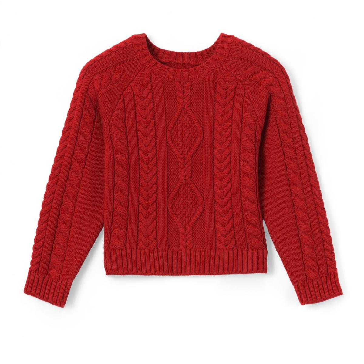 Пуловер с круглым вырезом из тонкого трикотажа 3-12 лет