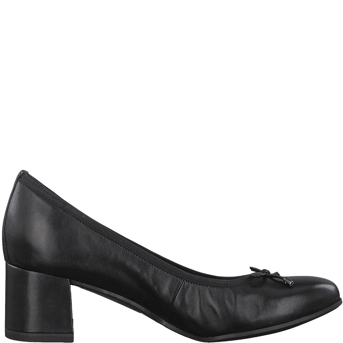 Туфли кожаные RommyДетали •  Широкий каблук •  Высота каблука : 5 см •  Застежка : без застежки •  Круглый мысокСостав и уход • Верх 100% овечья кожа •  Подкладка 50% синтетического материала, 50% текстиля •  Стелька 100% кожа<br><br>Цвет: черный<br>Размер: 36.39.38