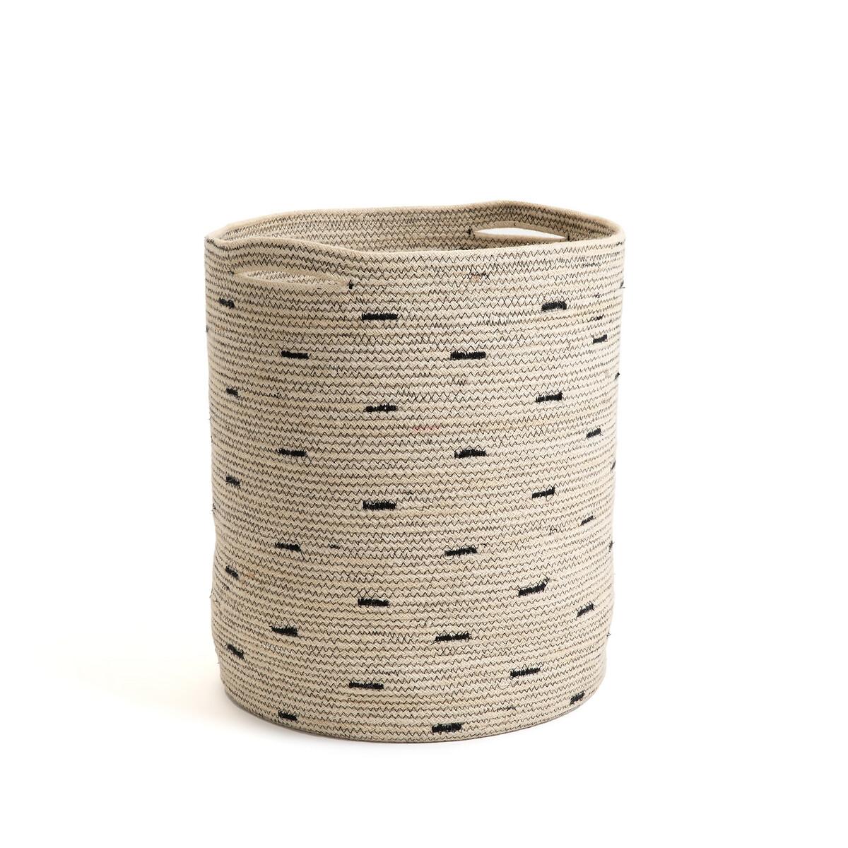 Фото - Корзина LaRedoute Для белья из джута Felicia единый размер бежевый корзина laredoute для белья из ткани louison единый размер серый